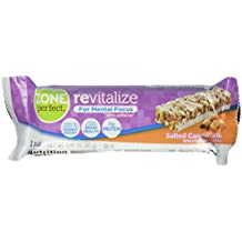 Zone Perfect Revitalize Energy Bars, With Caffeine for Mental Focus, Salted Caramel Latte, 5 Count