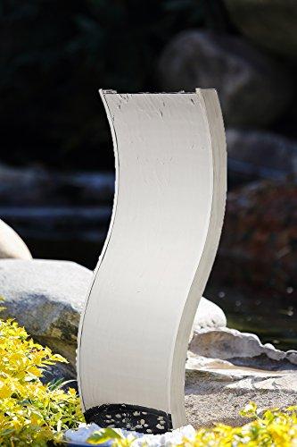 Köhko Wasserwand 23002 aus Edelstahl S-Figur Wasserspiel mit LED-Beleuchtung