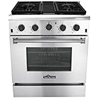 Thorkitchen HDM3001U 30 Pro-Style Gas Range, Stainless Steel