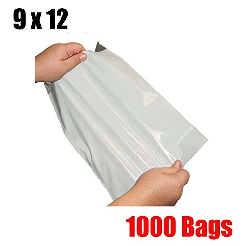 (iMBAPrice 1000 9x12 White Poly MAILERS ENVELOPES Bags 9 x 12)