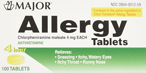 Major Pharmaceuticals Chlorpheniramine Tablets Count product image