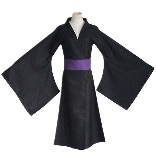 [Mtxc Men's Noragami Cosplay Costume Yato Kimono Size Large Black] (Yato Cosplay Costume)