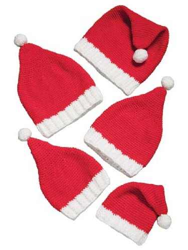 Amazoncom Santa Hats For The Family Crochet Pattern Everything Else