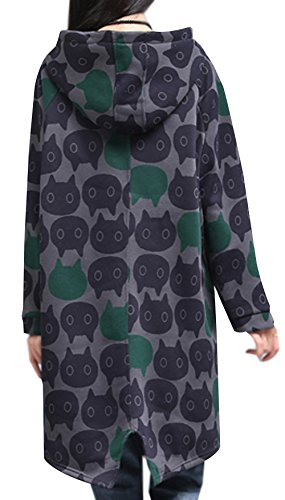 Women's Coat Lining Ammy Warm Cats Fleecy Fashion Hoodies P Roomy 7gaqwRxE