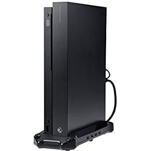 AmazonBasics Vertical Stand & USB 3.0 Hub for Xbox One X, Black