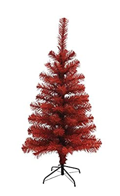"Creative Co-Op XC6844 35.25""H Red Artificial Christmas Tree"