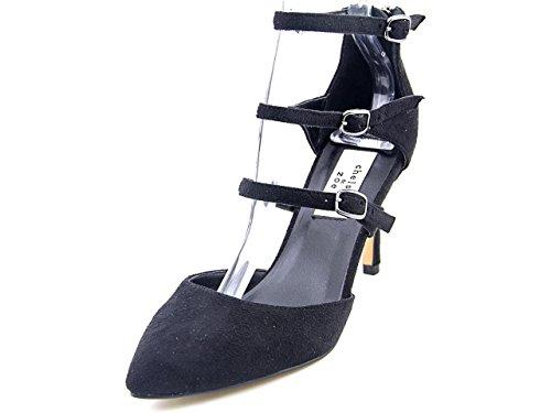 Chelsea & Zoe Womens Karri Suede Closed Toe Ankle Strap D-Orsay Pumps Black Ri75MxMBV
