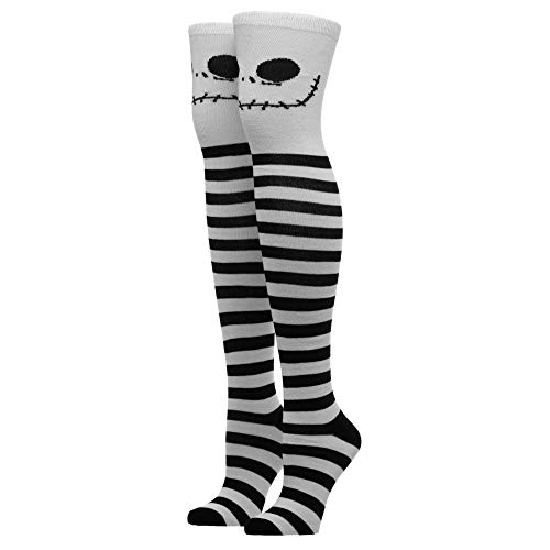 Jack Skellington Nightmare Before Christmas Thigh High Socks Nightmare Before Christmas Accessories Nightmare Before Christmas Gift Nightmare Before Christmas Socks Nightmare Before Christmas Apparel from Bioworld