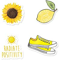 """Cute Yellow Stickers - 3"""" Vinyl Stickers For Laptops or Water Bottles"""