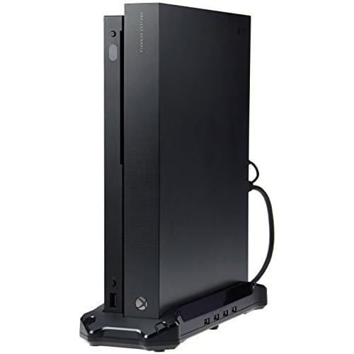 chollos oferta descuentos barato AmazonBasics Plataforma de soporte vertical y USB 3 0 para Xbox One X Negro