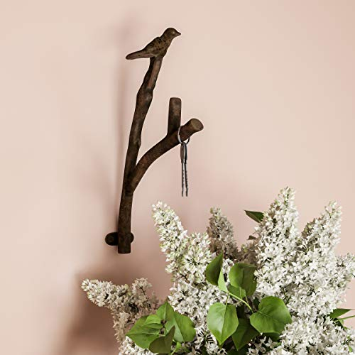 Lavish Home Decorative Skeleton Key Design Cast Iron Shabby Chic Rustic Wall Mount Hooks for Coats, Towels, Hats, Scarves, Jewelry, and More (Key Hooks Home For)