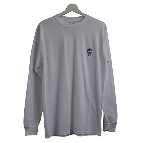 s Camiseta xxl Blanco manga Hecho larga Destiny bordado de Hip Doom Mf Gargantilla Crest Madvillain real Hop nwfqPpnZ