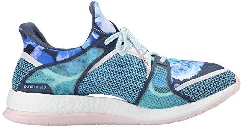 Adidas Pure X Boost Tr W Formación de zapatos, Negro / Gris oscuro / amarillo resplandor de Sun, 6 Blue/Blue/Pink