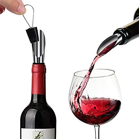 Zoutt Sacacorchos Eléctrico,Abridor de Botellas, Abrebotellas Electrico Recargable,abridor de Vino, Tapón Silicona y Vertedor de Vino, USB Cable de Carga Acero Inoxidable