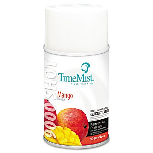 TimeMist 9000 Shot Metered Air Fresheners, Mango, 7.5oz, Aerosol - four aerosol air freshener ()