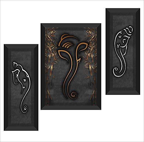 UV Textured Ganesha Modern Art Print Poster SAF For Home Decor