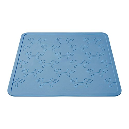 United Pets Mustafa Pet Bowl Mat, Light Blue - 44.5 x 44.5 cm by Petego
