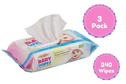 Wipes for baby and household use 80 Ct, 3 Pack, Total Of 240 Wipes