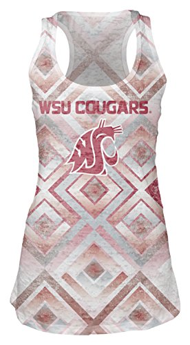 NCAA Washington State Cougars Women's Sublimated Burnout Tank Top, Large, - Cougars Tailgate State Washington