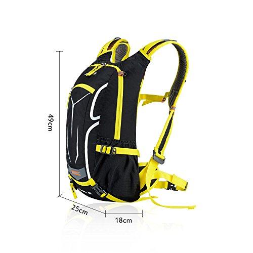 Docooler 18L Fahrrad Rucksack/Bergsteigen Tasche mit Regen Abdeckung f¨¹r Outdoor/Reise/Bergsteigen, Material: Nylon, Ultralight