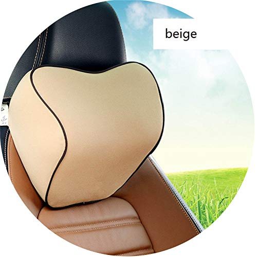 Headrest Neck Pillow Head Restraint Cushion for Driver Memory Foam Synthetic Fiber Car ()
