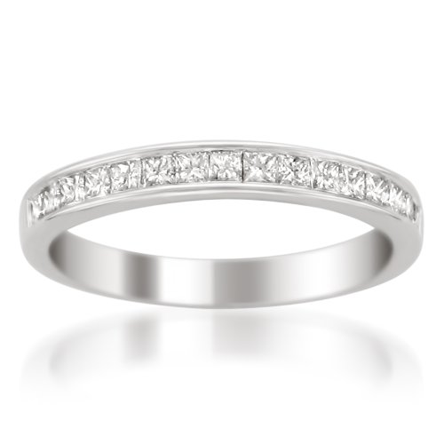La4ve Diamonds 14k Gold Princess-cut Diamond 16-stone Bridal Wedding Band Ring (1/2 cttw, H-I, SI2-I1) (Diamond Princess Cut Mens Ring)
