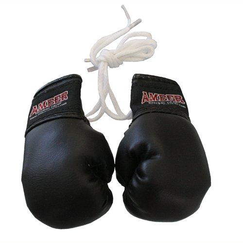 Amber Fight Gear Mini Boxing Gloves Black