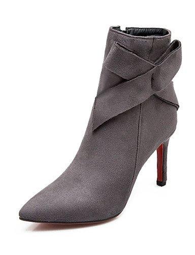 Tacón Zapatos Blue Eu36 Gray Ante Moda Azul us8 Puntiagudos Vestido Cn36 Sintético La Mujer us6 Uk6 Stiletto Cn39 Negro Botas Uk4 Eu39 A Casual De Xzz Gris dtSqTBB