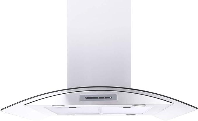 Amazon Com Ws 68n Series 35 25 550 Cfm Ductless Island Range Hood Appliances