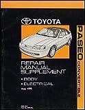 1997 Toyota Paseo Repair Shop Manual Original