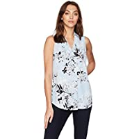 Calvin Klein Women's Pleat V-Neck Blouse