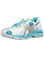 ASICS Women\'s Gel-Kayano 23 Running Shoe, White/Silver/Aquar...