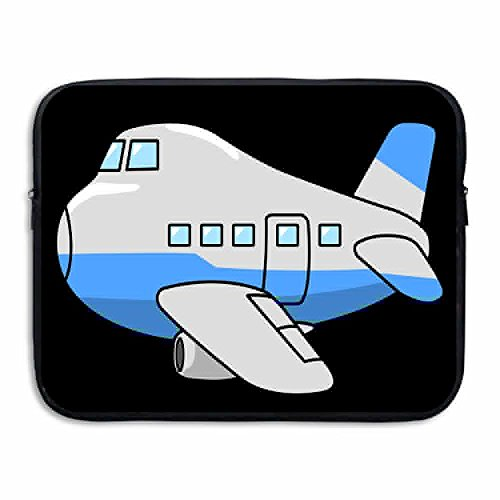 Reteone Laptop Sleeve Bag Cute Airplane Clip Art Cover Computer Liner Package Protective Case Waterproof Computer Portable ()