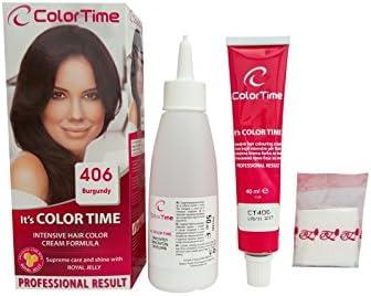 Color time, tinte en crema para el cabello de color burdeos 406 ...