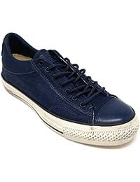 by John Varvatos Distressed Canvas Vintage Slip On Sneaker Ink Blue (9 D(M) US Men)