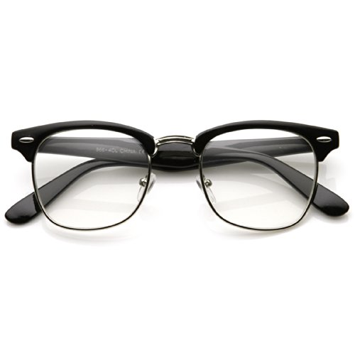 MLC Eyewear Retro Clubmaster Horn Rimmed Half Frame Vintage Fashion - Eyewear Tomford