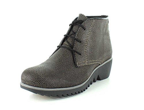 Wolky Confort Lacets Chaussures Sombre Hiver Taupe Malibu Daim