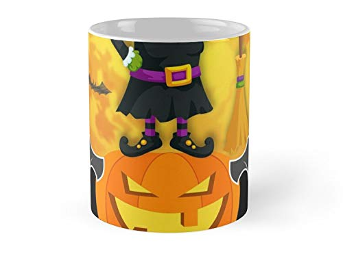 Hued Mia Mug Witch Teach Hocus Pocus Funny Halloween Basic Witch Hocus Pocus costume scary spooky things broom trick or treat treating - 11oz Mug ()