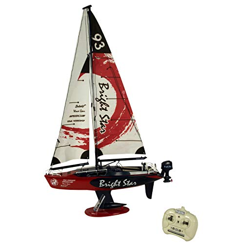 Electric Rc Sailboat - Golden Bright Full Function Radio Control Boat Vehicle, Red
