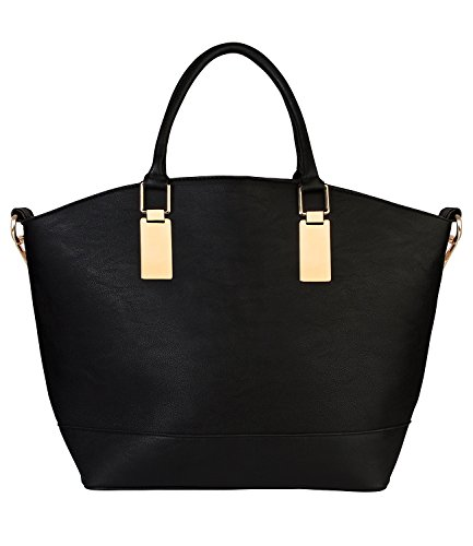 bag of tote handle 427 and large strap shopper pc golden top handbag bag shoulder 1 black accents 400 SIX with womens Ezvvq