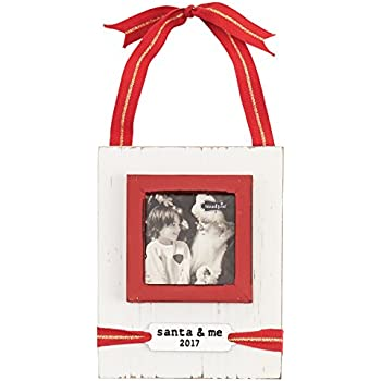 Amazon Com Mud Pie White Washed Distressed Santa And Me