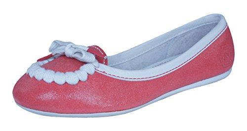 Puma Rudolf Dassler Feder Bombas / zapatos del ballet del cuero de las mujeres Red