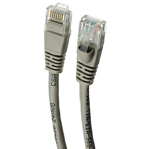 RJ45 10Gbps High Speed LAN Internet Patch Cord UTP Available in 28 Lengths and 10 Colors GOWOS 20-Pack Cat6 Ethernet Cable 5 Feet - White Computer Network Cable with Snagless Connector