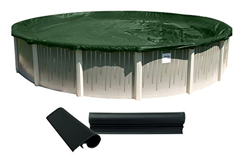 Buffalo Blizzard Supreme Plus Round Swimming Pool Winter Cover Green/Black-with Cover Clips (12 Ft. Round)