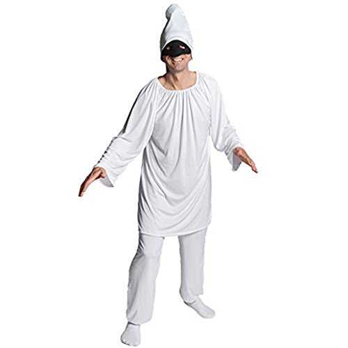 Pulcinella Costume (Pulcinella Costume Italian Mask Dress for Party Halloween Adult)