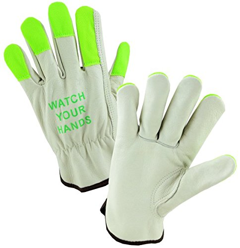 (West Chester 990IKGT XL Keystone Thumb Select Grain Cowhide Driver Gloves, XL, Green (Pack of 12))