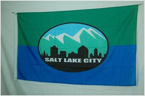 Apedes Salt Lake City Garage Hangar Basement Flag 3x5 Feet by Apedes