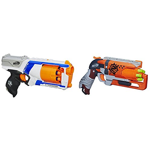 Nerf N-Strike Elite Strongarm Blaster with Nerf Zombie Strike Hammershot Blaster Bundle