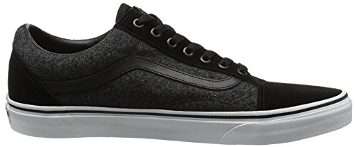 Uomo Old Vans Running Skool Suede Scarpe Suiting Nero T44Ia