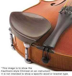 Kaufman 4/4 Violin Chinrest - Ebony with Standard Bracket